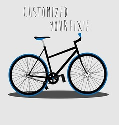 Customized Your Fixie 2 vector image vector image