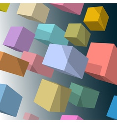 3d colored cubes vector