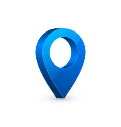 3d map pointer blue navigator symbol isolated on vector