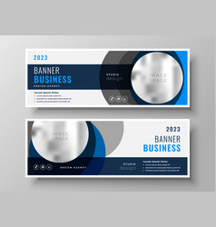 abstract circle business banners modern template vector image