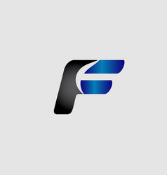 abstract letter f logo design template vector image