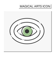Aura color icon vector