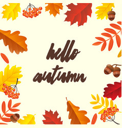 autumn poster vector image