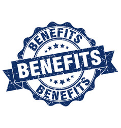 benefits stamp sign seal vector image
