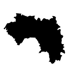 Black silhouette country borders map of guinea on vector