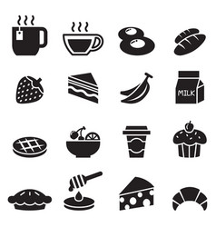 breakfast icon set 2 vector image