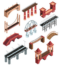 Bridges isometric set vector