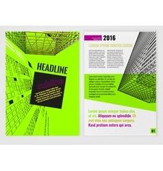 Business Brochure Template-03-03 vector image