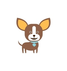Chihuahua dog breed primitive cartoon vector