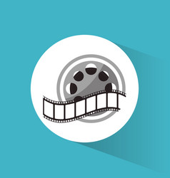 cinema reel film strip movie vector image