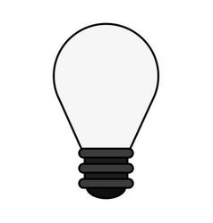 color silhouette cartoon light bulb flat icon vector image