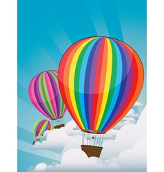 Colorful Hot Air Balloons5 vector image