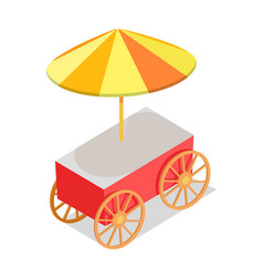 colorful streetfood trolley isolated vector image