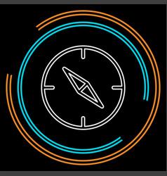 Compass icon - navigation symbol - travel vector