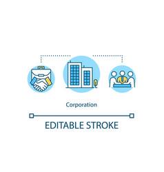 Corporation concept icon vector