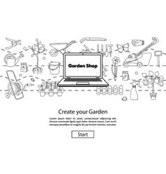 Create your Garden Website Template vector