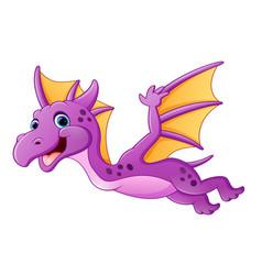 cute dragon flying vector image
