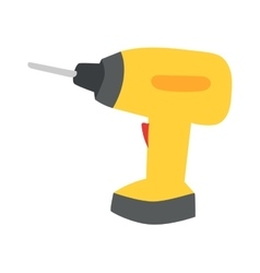 Drill hand tool flat vector image