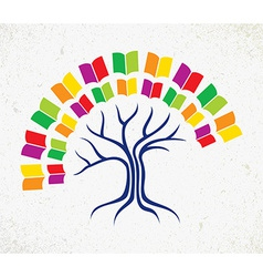 Education tree book concept vector