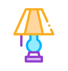 electric lighting lamp icon outline vector image
