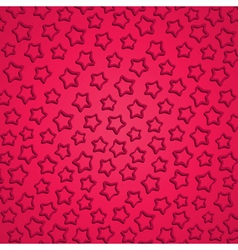 Emboss star pink background vector