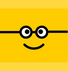 Emoji smile icon symbol on yellow background vector