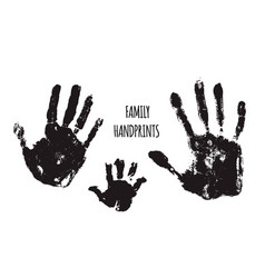 Family handprints vector