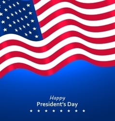 Flag USA Waving Wind for Happy Presidents Day vector image