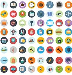 flat icons design modern big set various vector image