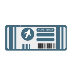flight ticket isolated icon vector image