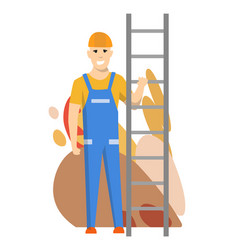 foreman or worker for building construction vector image