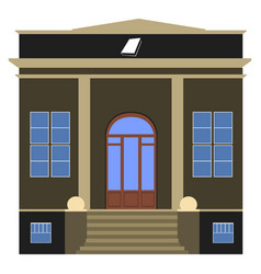 front view of a library vector image