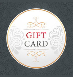 gift card banner with floral ornaments present vector image