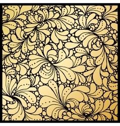 Golden petals or floral leafs ornament paisley vector