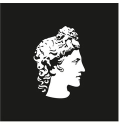 Greek god apollo logo ancient god sculpture vector