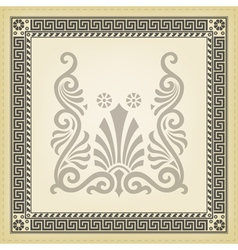 Greek traditional meander border vector image