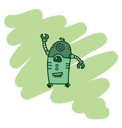 green robot T-Shirt design vector image