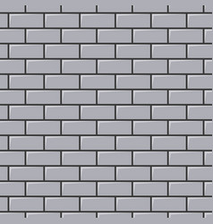 grey brick wall texture seamless background vector image