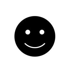Happy smiley icon black and white smile vector