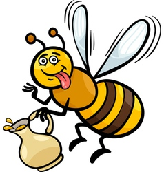 Honey bee insect cartoon vector