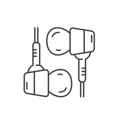 hybrid headphones line icon concept hybrid vector image