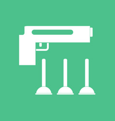 Icon toy gun vector