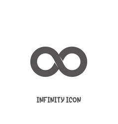 infinity icon simple flat style vector image