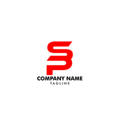 initial letter sp logo template design vector image