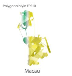 Isolated icon macau map polygonal geometric vector