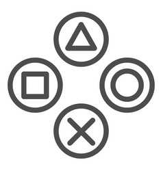joystick buttons line icon game console buttons vector image