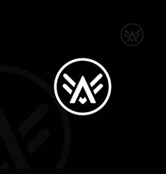 Letter a wings logo vector