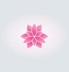 lotus flower watercolor style logo vector image