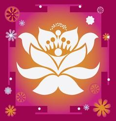 Lotus yantra vector