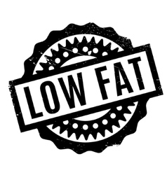 Low Fat rubber stamp vector